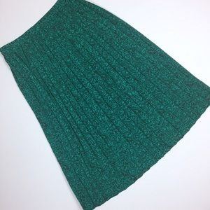 Andrea Gayle | vintage green accordion pleat skirt